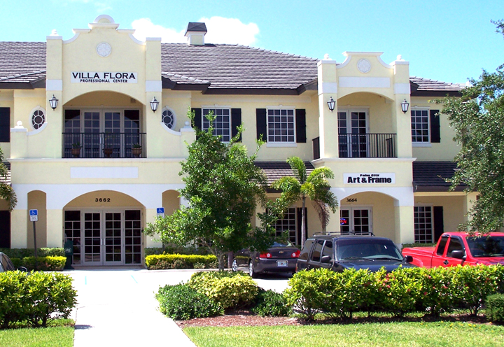 Palm City Art & Frame - Located in the Villa Flora Professional Center(2-story yellow building ...